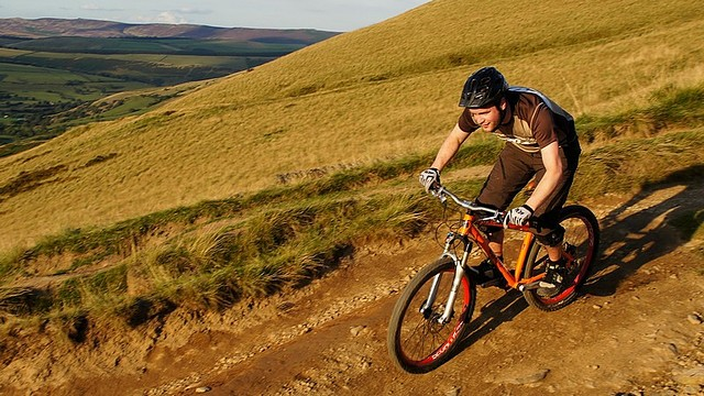 [08558 Hollins Cross - Greenlands bridleway, Edale, Mountain Biking, Peak District]